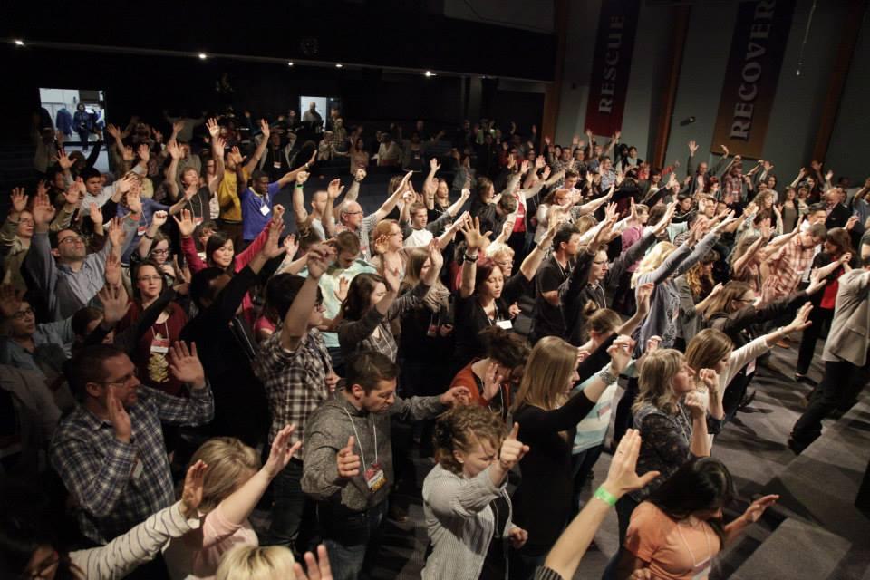 40+ churches worshipping together at Unite Prairie Fire